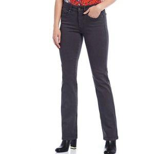 NYDJ Marilyn Straight Leg Jean Stretch Tummy Control Gray Pewter Size 8
